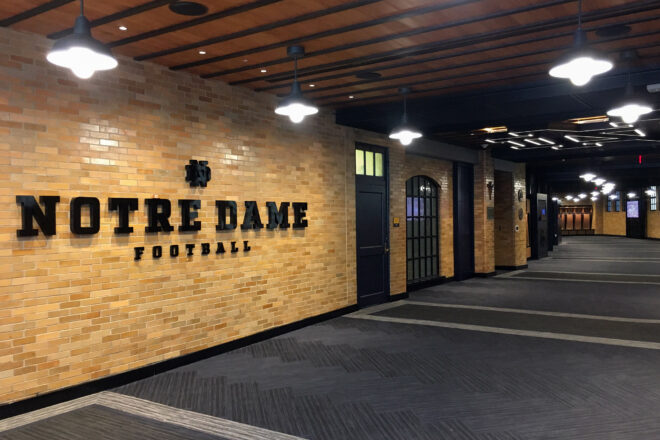 Notre Dame Football sign