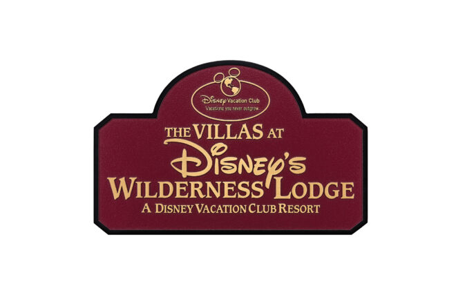 Disney's Wilderness Lodge plaque