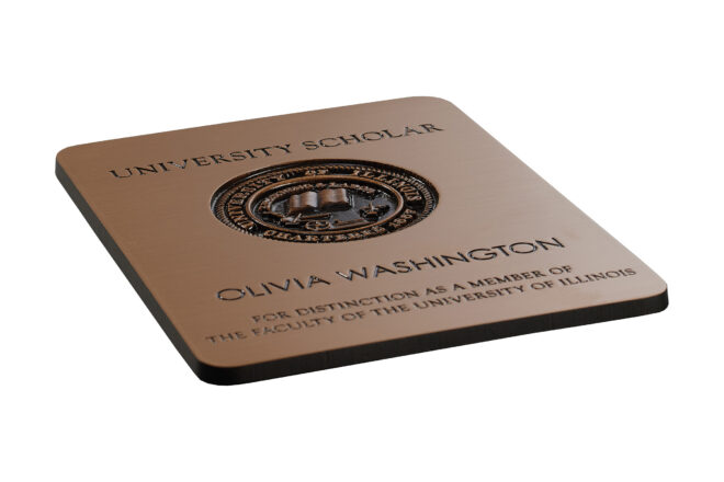 Olivia Washington plaque
