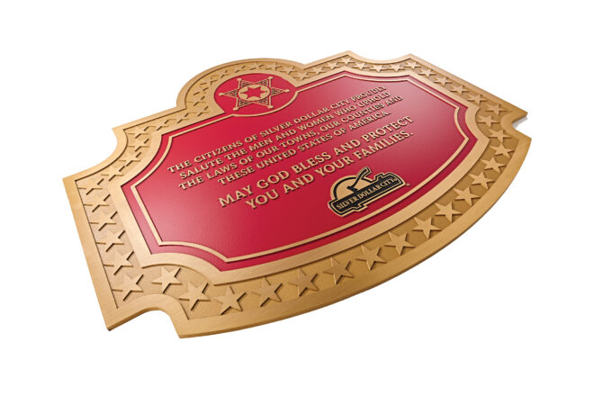Silver Dollar City plaque