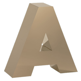 Fabricated Metal letter A