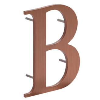 Flat Cut Metal Letter B