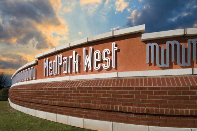 Med Park West Sign