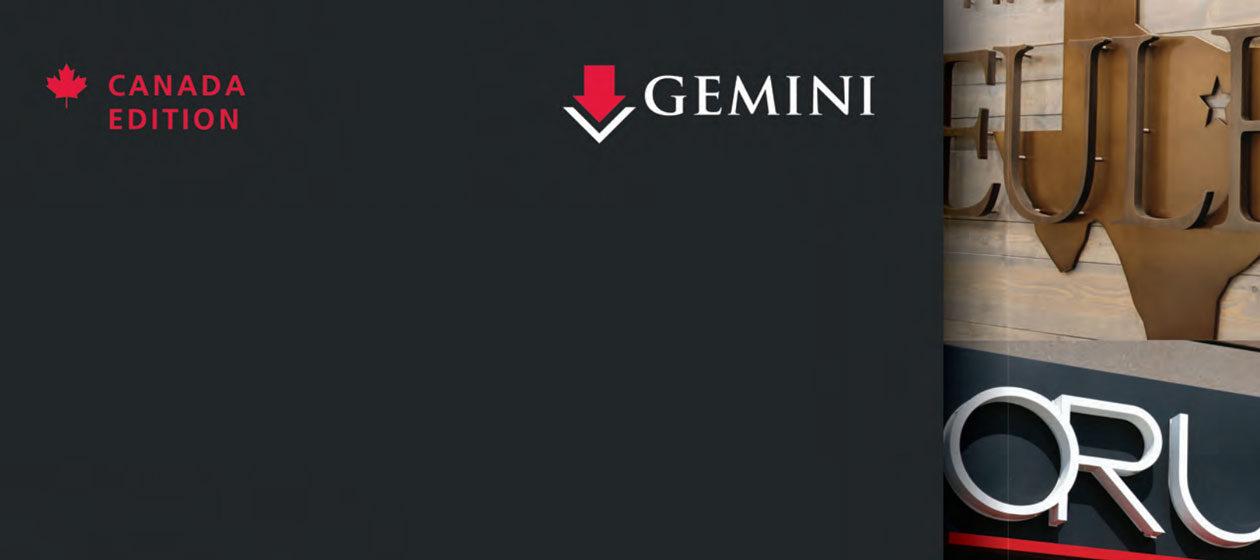 Gemini Canada catalog cover