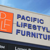 Pacific Lifestyle Furniture sign