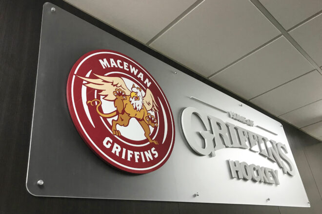 Griffins Hockey sign
