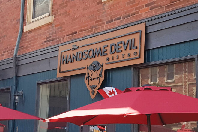 Handsome Devil Bistro sign