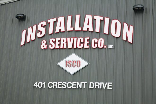 Installation & Service Co. sign