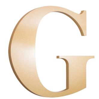 Laser Cut Acrylic letter G