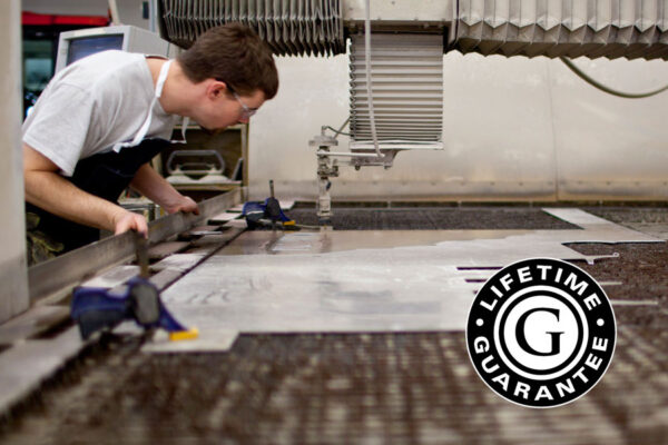 Man working waterjet