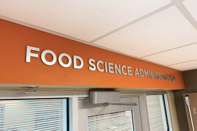 Food Science Administration sign