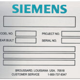 Siemens commercial plate