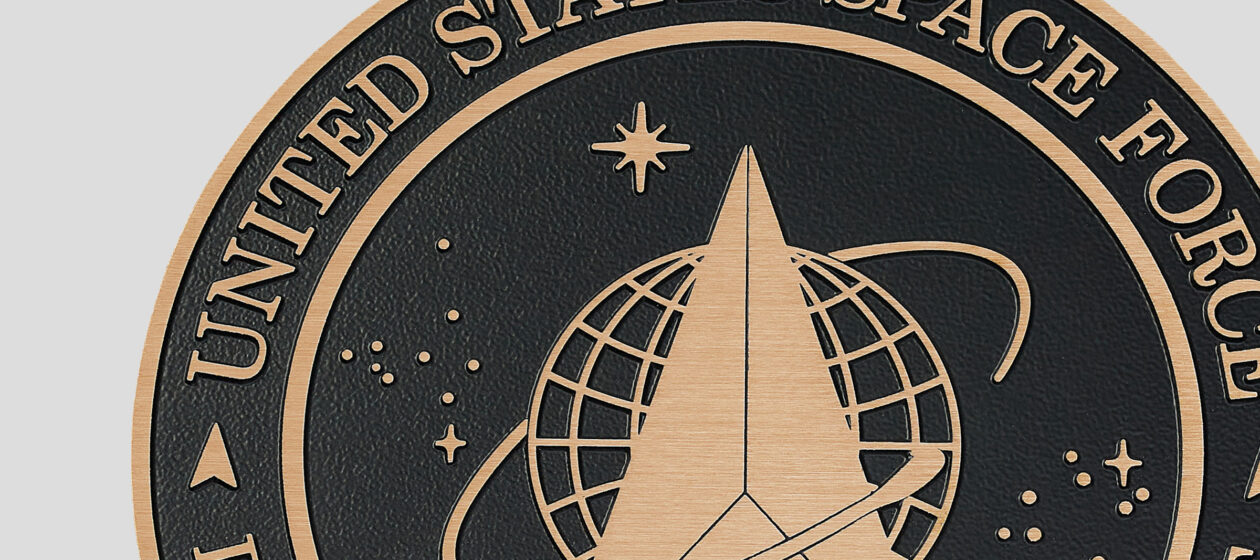 Precision tooled plaque for US Space Force